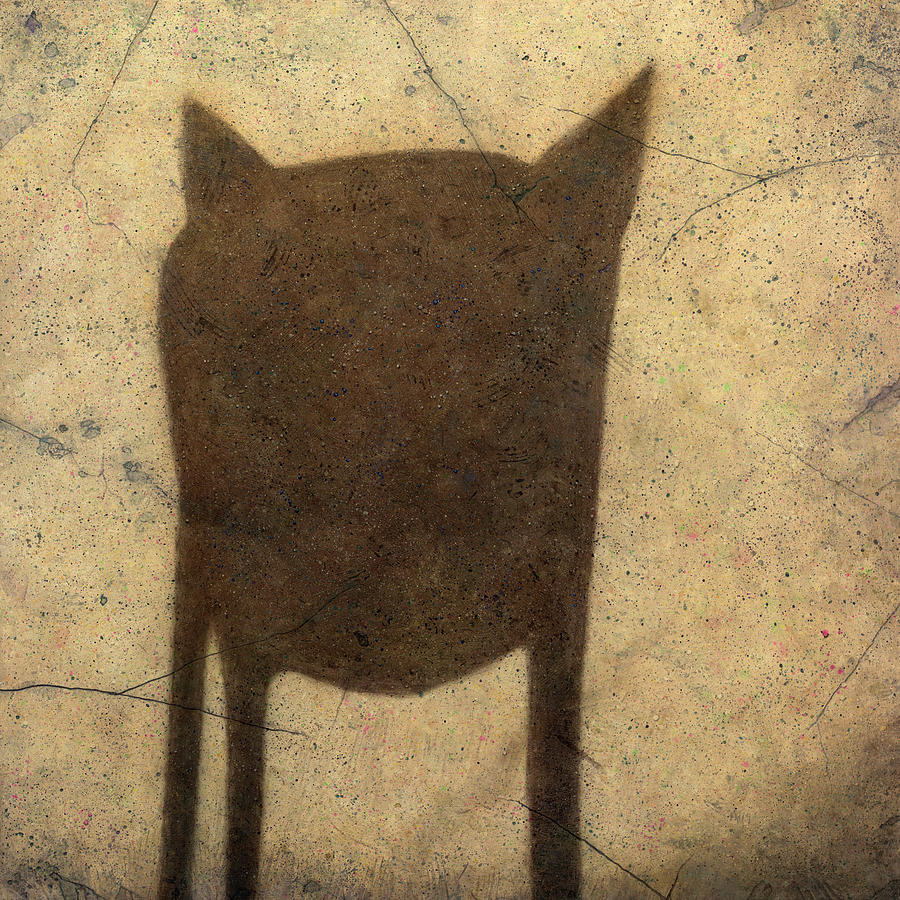 Shadow Painting - Shadow Creature by James W Johnson
