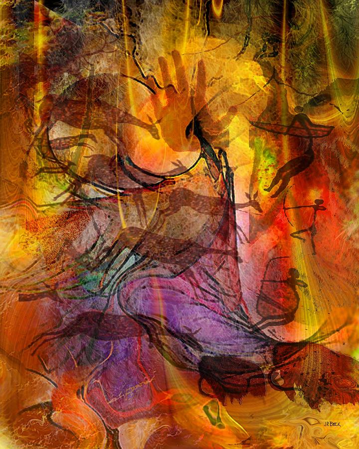 Cave Men Digital Art - Shadow Hunters by John Robert Beck