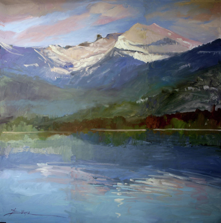 Murals Painting - Shadows of Winter, Chimney Rock, Priest Lake by Betty Jean Billups
