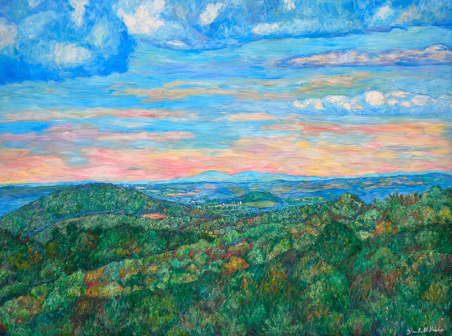 Landscape  - Shadows on a Ridge Near Rocky Knob by Kendall Kessler