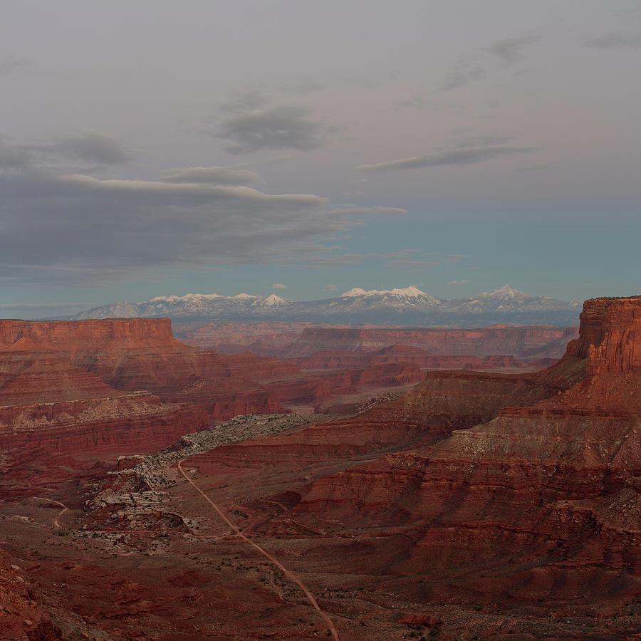 Shafer Canyon At Dusk Photograph