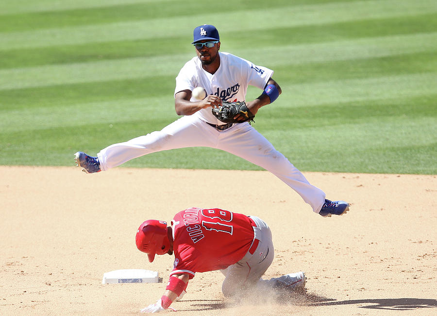Shane Victorino and Jimmy Rollins Photograph by Stephen Dunn