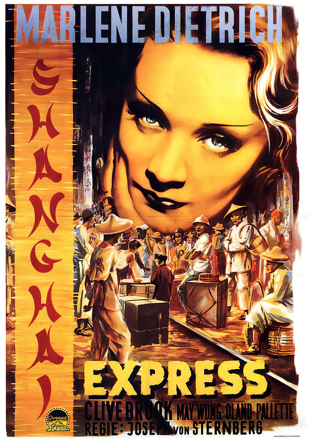 shanghai Express, With Marlene Dietrich, 1932 Mixed Media