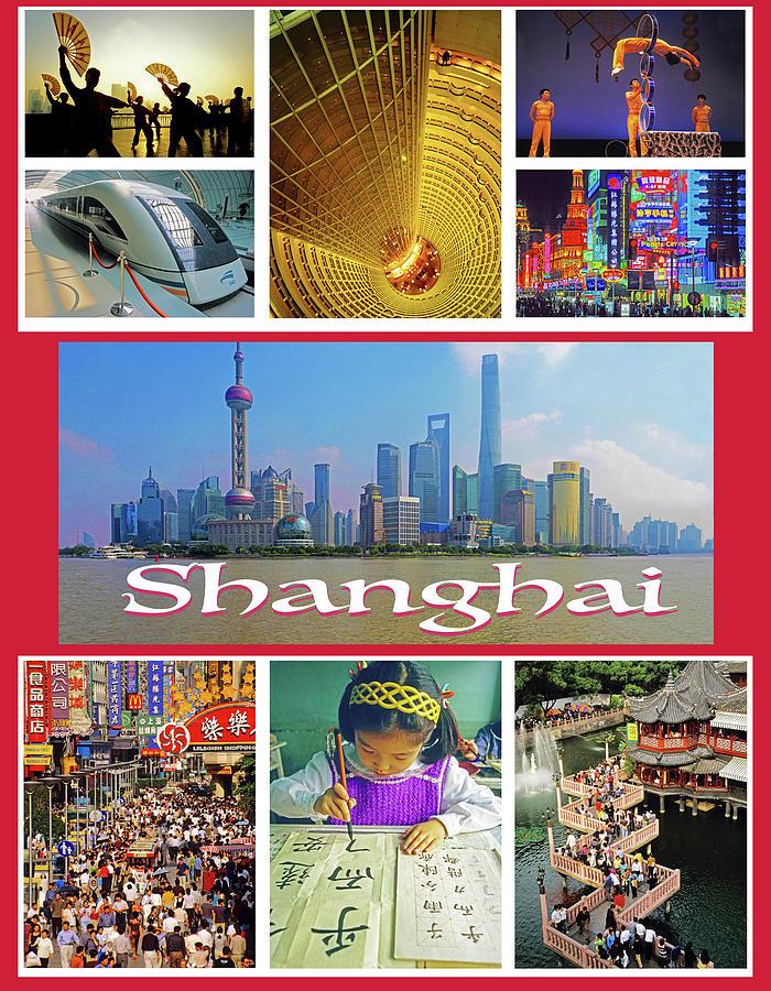 Shanghai Travel Poster Photograph