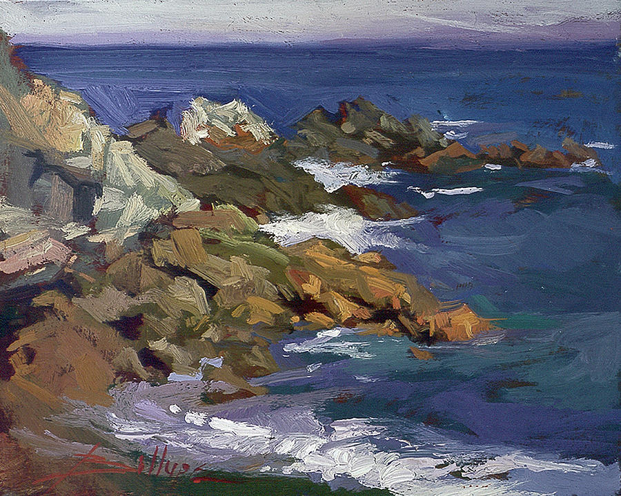 Shark Autumn Catalina  Plein Air Painting by Betty Jean Billups