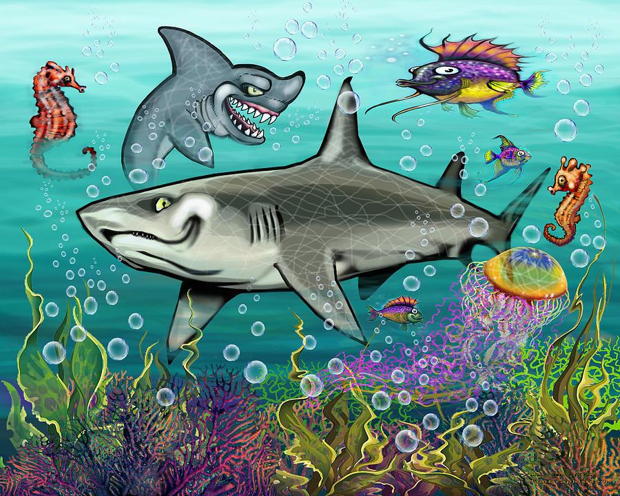 Sharks Digital Art