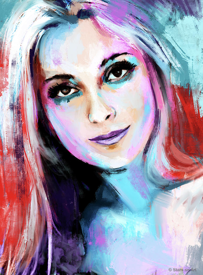 Sharon Painting - Sharon Tate by Stars on Art