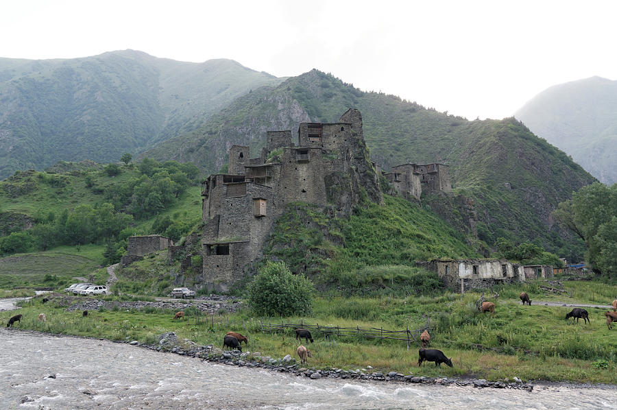 Shatili fortified stone castle, North Caucasus, Georgia Photograph by Vyacheslav Argenberg