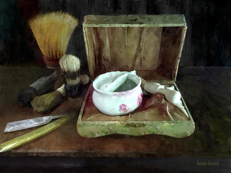 Shaving Mug and Shaving Brushes by Susan Savad