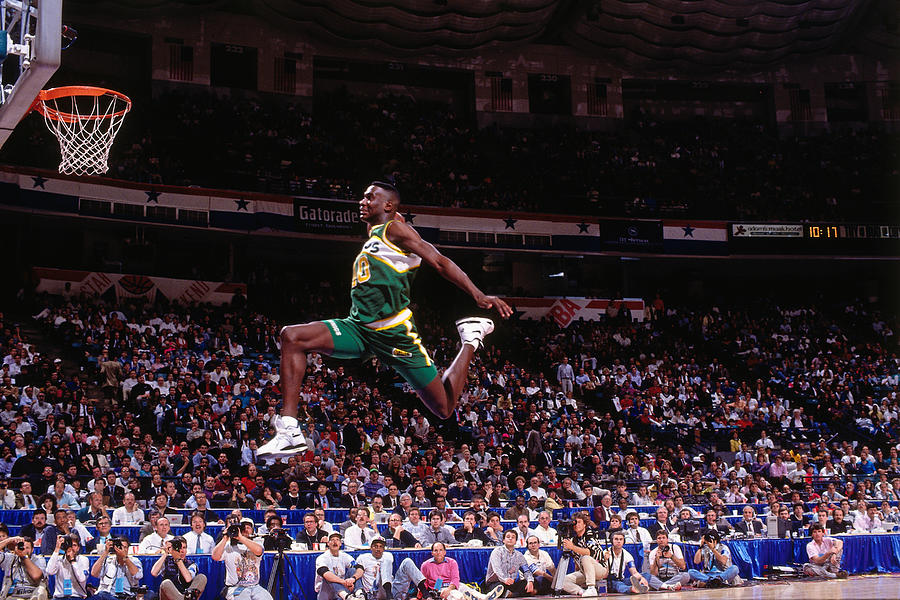 Shawn Kemp Photograph by Nathaniel S. Butler