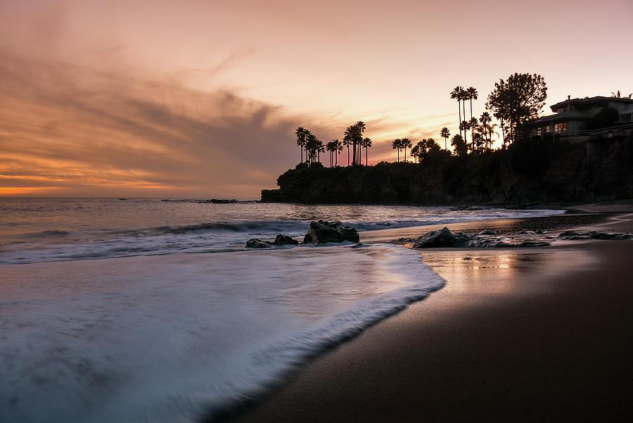 Ocean Photograph - Laguna Beach Shaws Sunset by Seascaping Photography