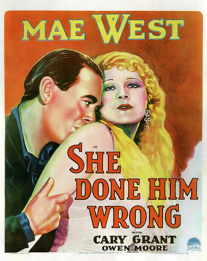 She Mixed Media - She Done Him Wrong - 1933 by Stars on Art