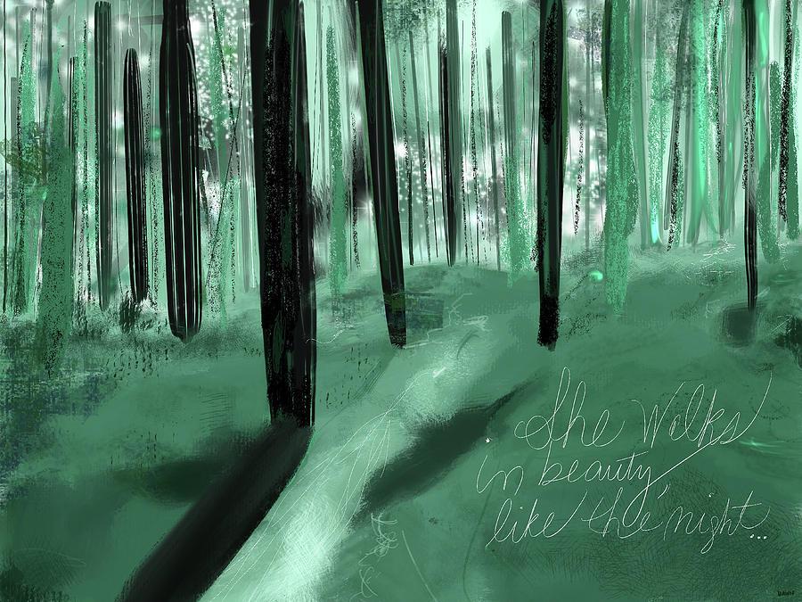 She Walks In Beauty Digital Art