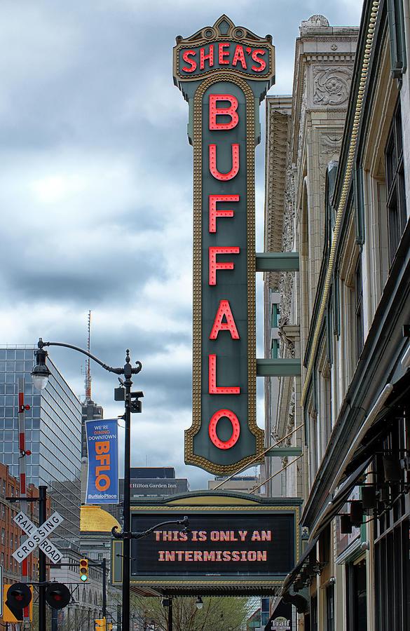 Sheas Buffalo Sign Photograph