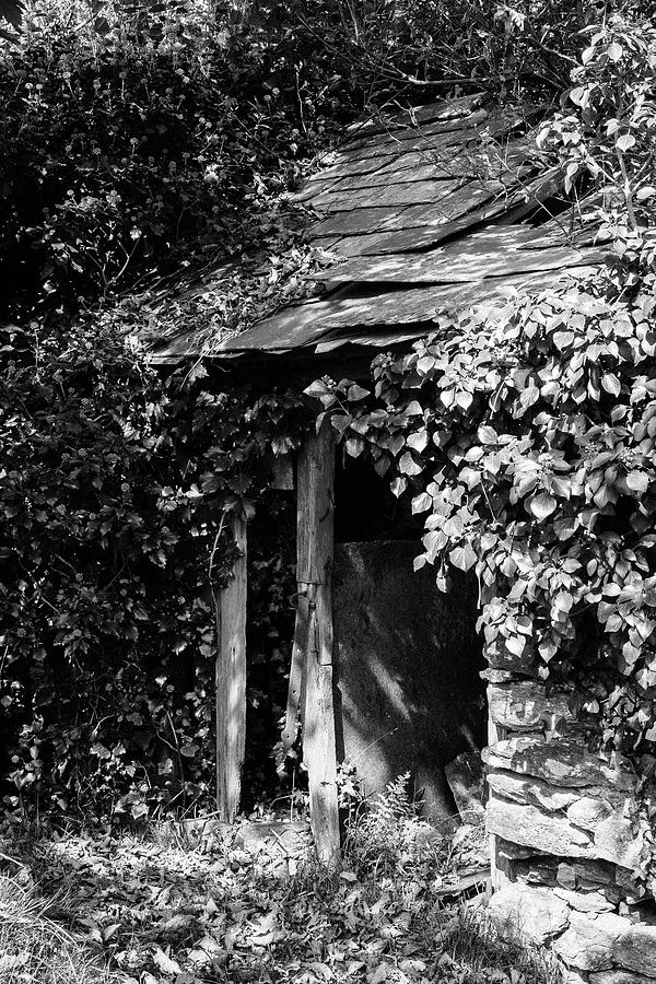 Black And White Photograph - Shed - Retired by Bear R Humphreys