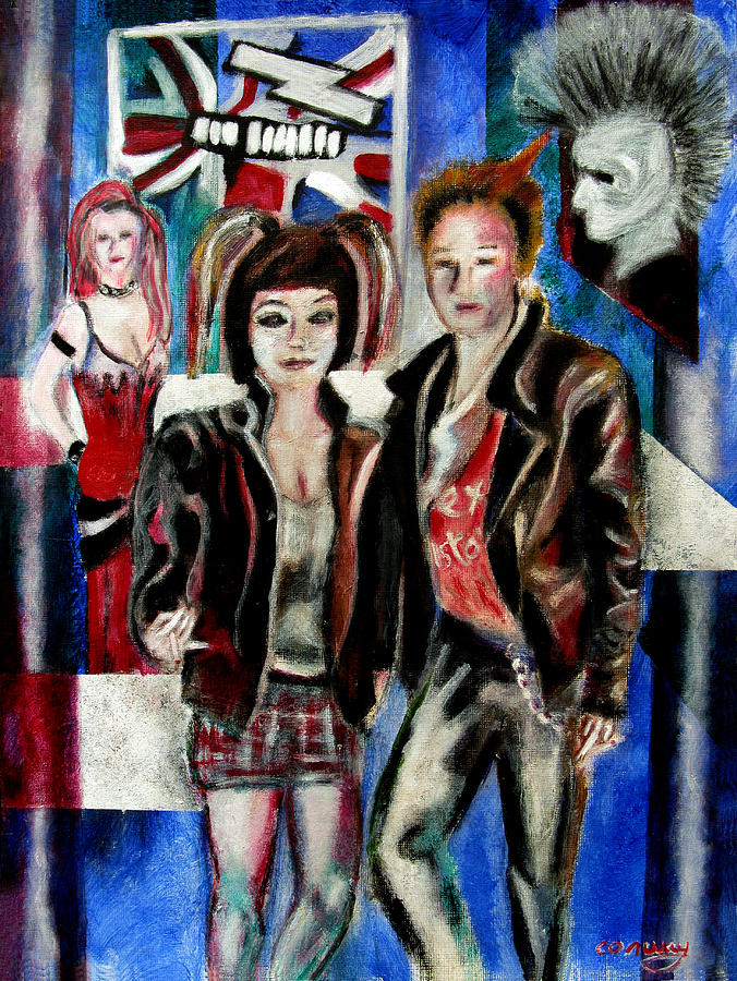 People Painting - Sheena is a punk rocker by Tom Conway