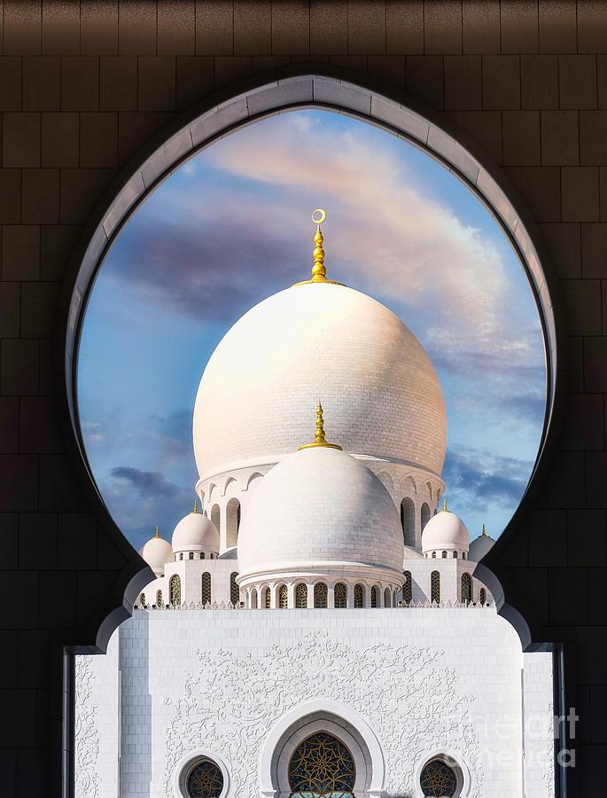 Abu Dhabi Photograph - Sheikh Zayed Grand Mosque - Abu Dhabi UAE by Stefano Senise