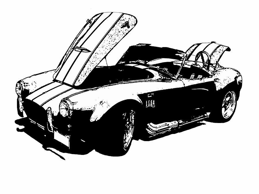 Shelby Cobra Digital Art - Shelby Cobra by Jeremy Edsall