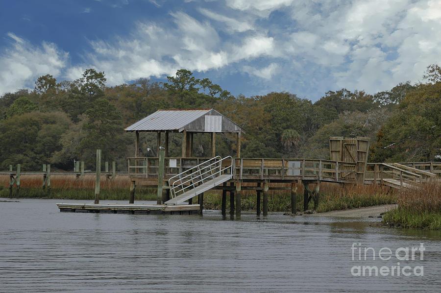 Shem Creek Dock - Mount Pleasant South Carolina Photograph