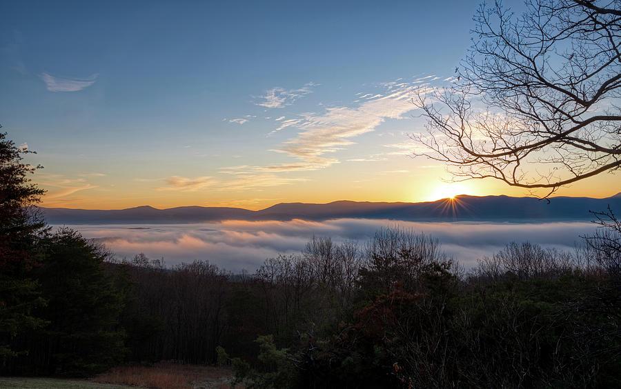 Shenandoah Morning Fog Ocean by Lara Ellis