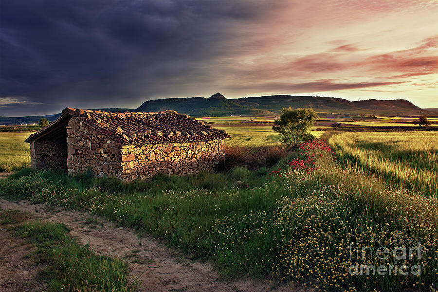 Nightfall Photograph - Shepherds Hut by Vicente Sargues