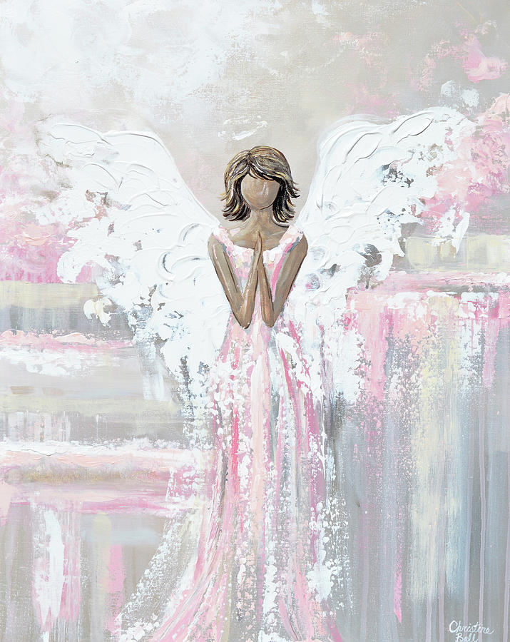 She's With You - Angel Painting by Christine Bell