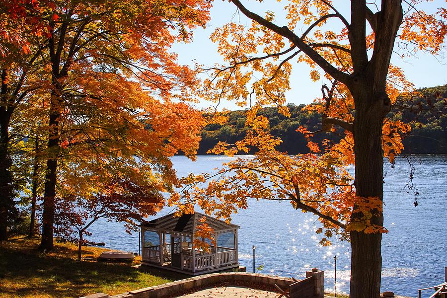 Shimmering Autumn Lake Photograph