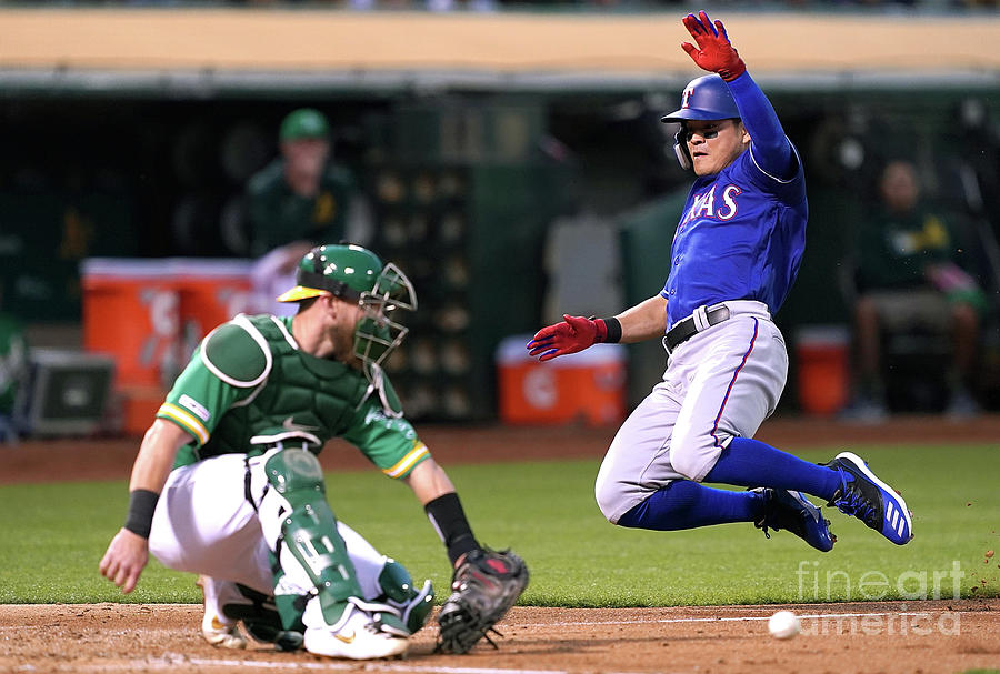 Shin-soo Choo and Chris Herrmann Photograph by Thearon W. Henderson