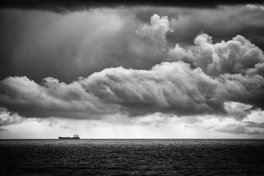 Ship On The Horizon Photograph