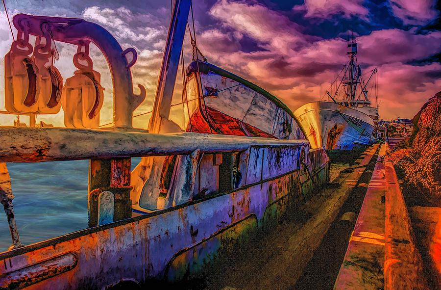 Ship Yard Photograph