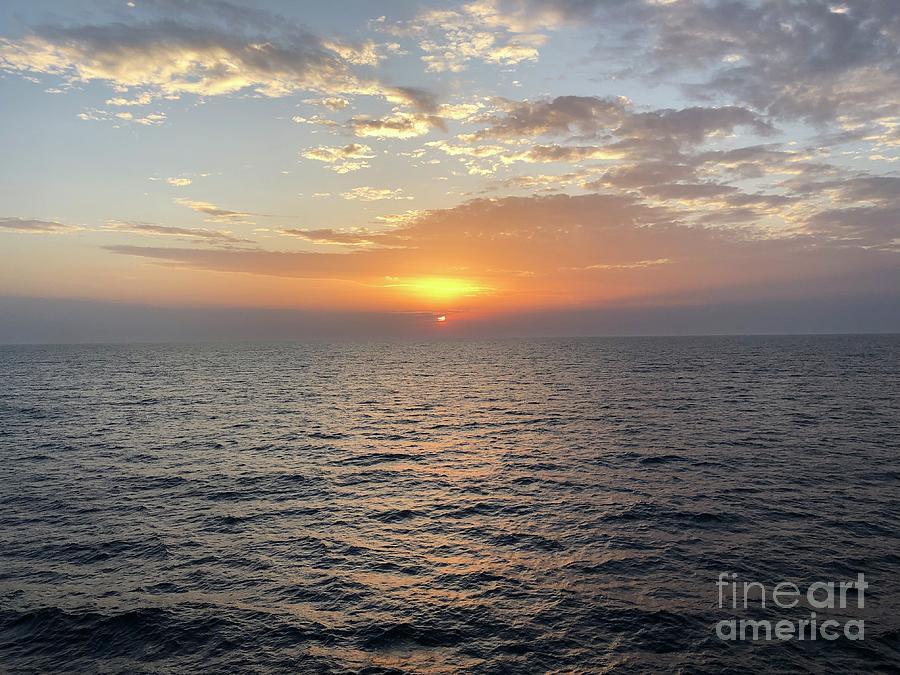 Shipboard Sunset by MKC