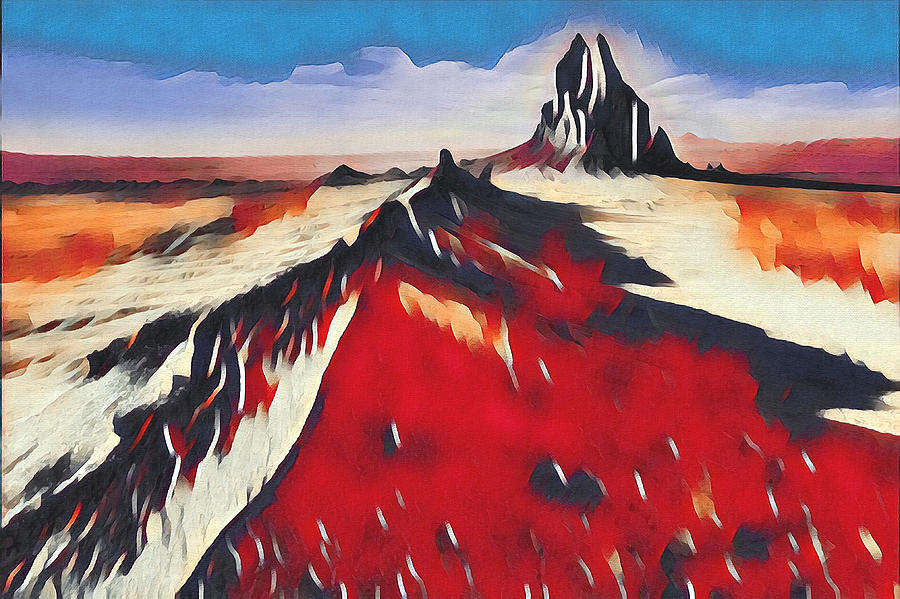 Rock Digital Art - Shiprock, New Mexico by Aerial Santa Fe