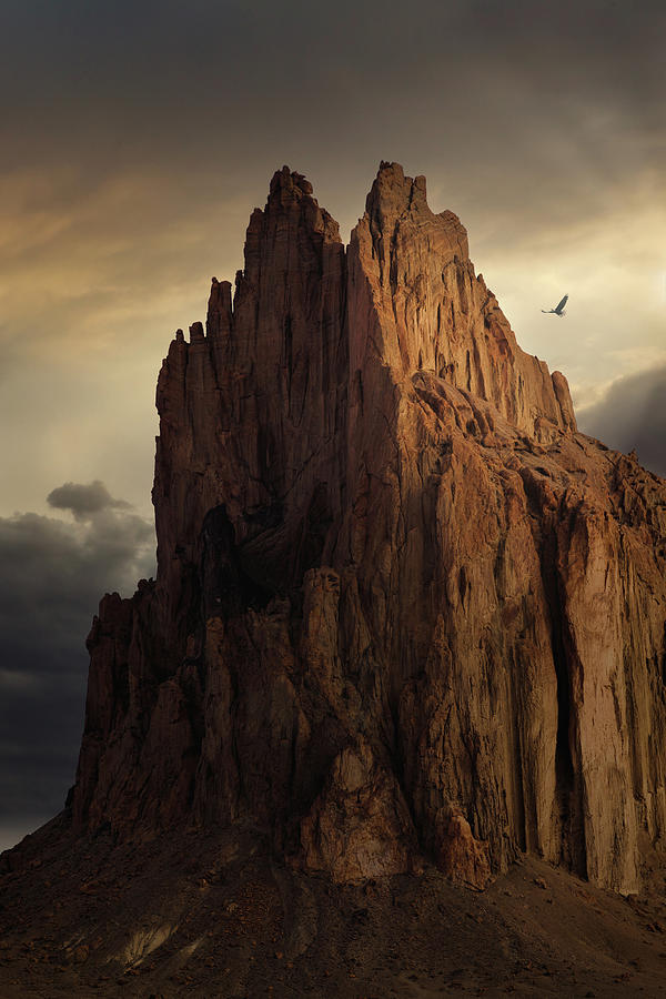 Shiprock Pinnacle Rock With Wings Photograph By Howard Holley Check out our howards rock selection for the very best in unique or custom, handmade pieces from our skirts shops. fine art america