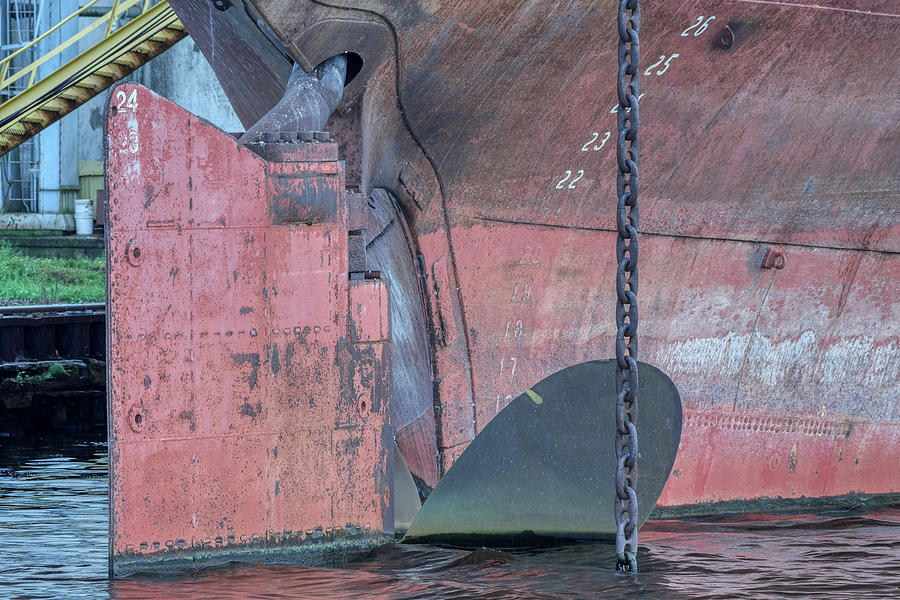 Ships Rudder by Paul Freidlund