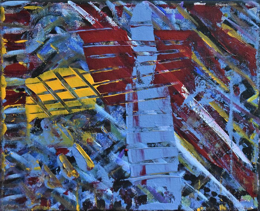 Blue Painting - Shipwreck by Pam Roth OMara