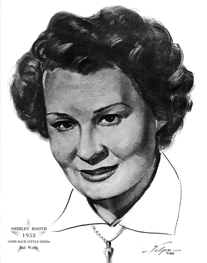 Shirley Booth By Volpe Drawing