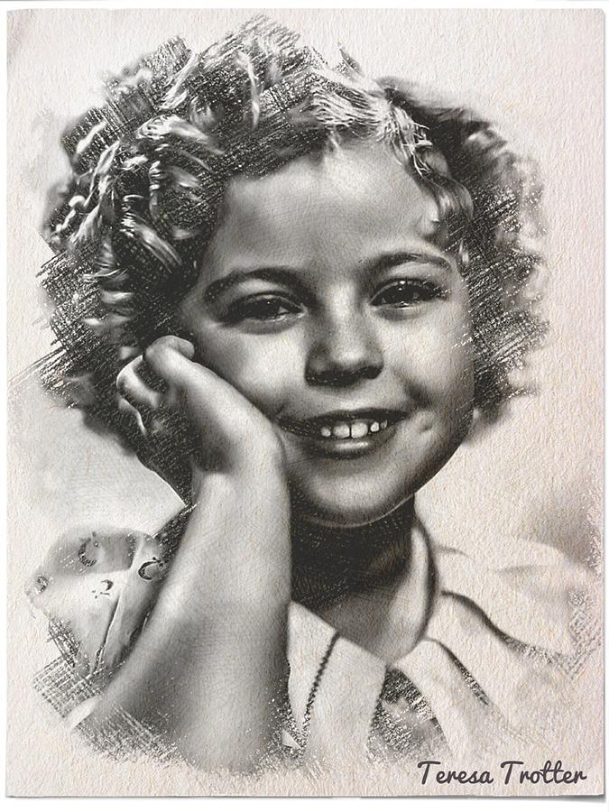 Shirley Temple Sketch Drawing
