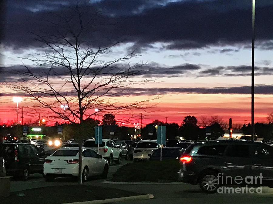 Shopping at Sunset by Karen Adams
