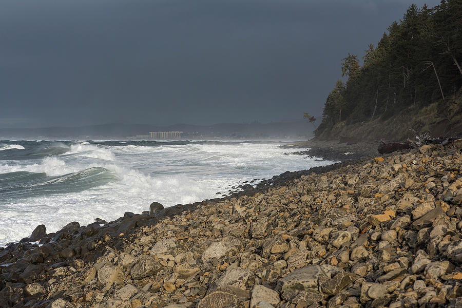 Shore of Seaside Cove by Robert Potts