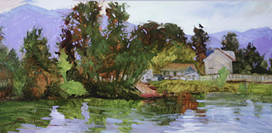 Shores of Lake Pend Orielle Painting by Betty Jean Billups