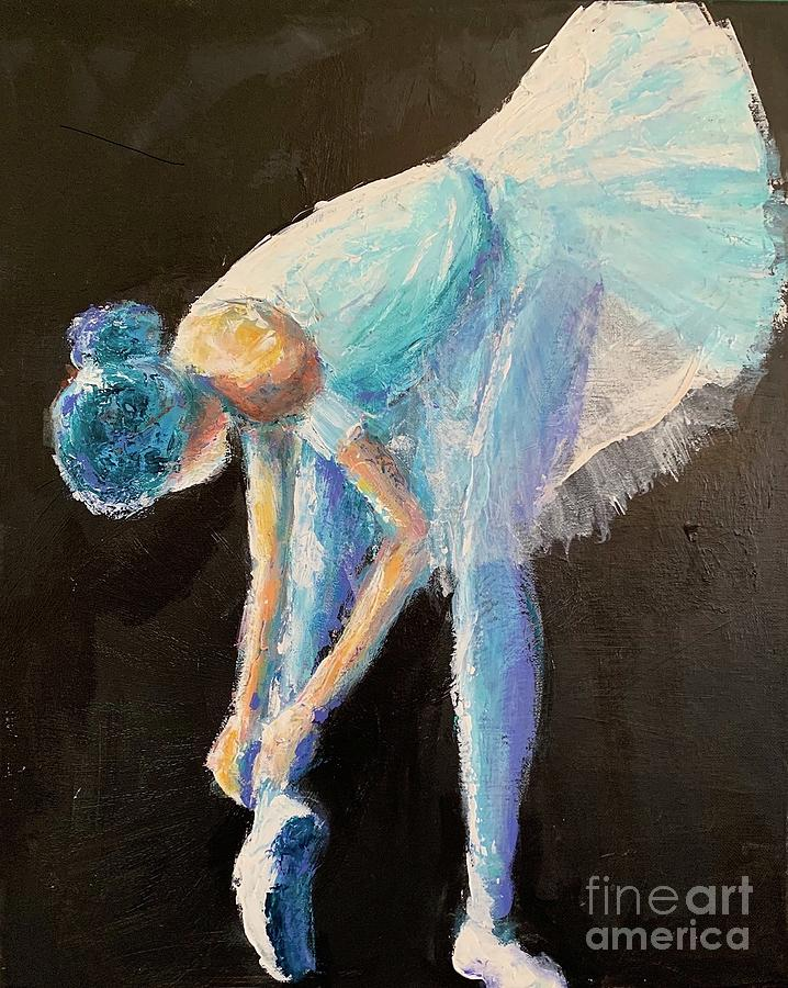 Ballerina Painting - Show Time by Mark Macko