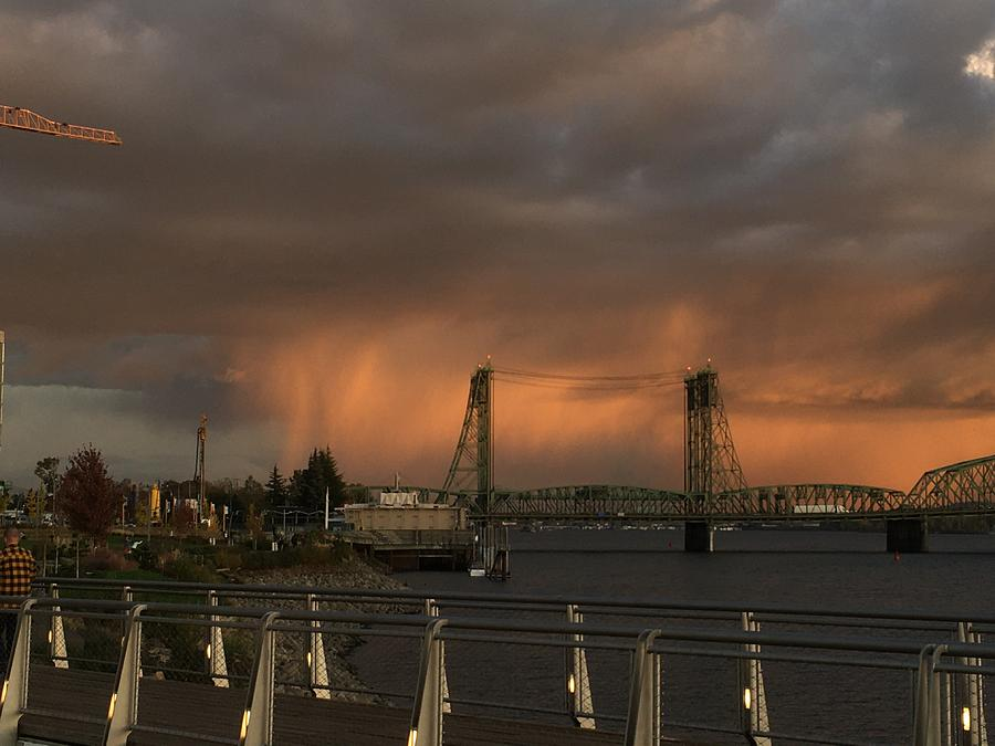 Shower on the Columbia at Sunset Unedited by Michael Oceanofwisdom Bidwell