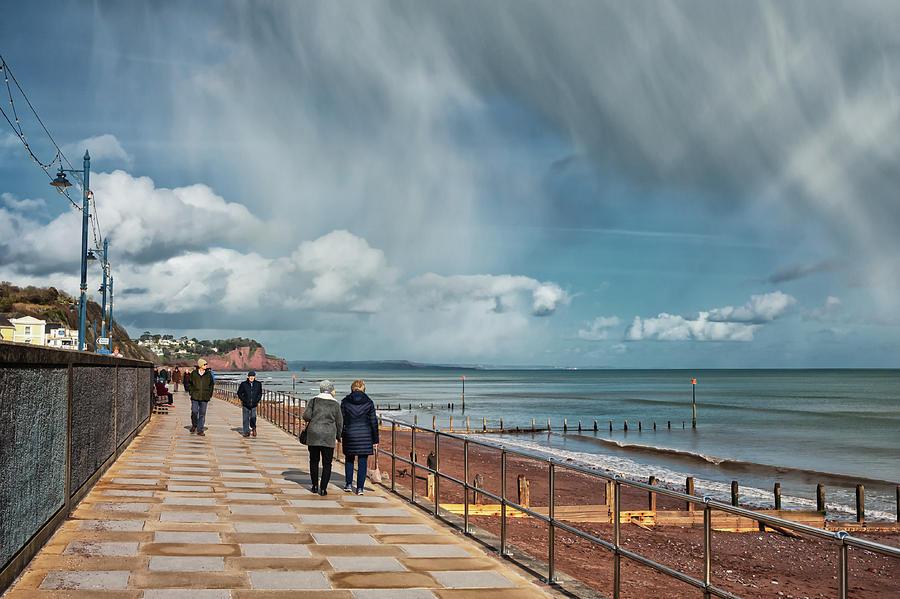 Teignmouth Photograph - Showers Teignmouth Promenade by A J Paul