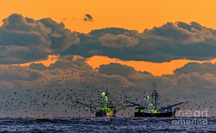 Shrimp Boat Tandem  by DJA Images