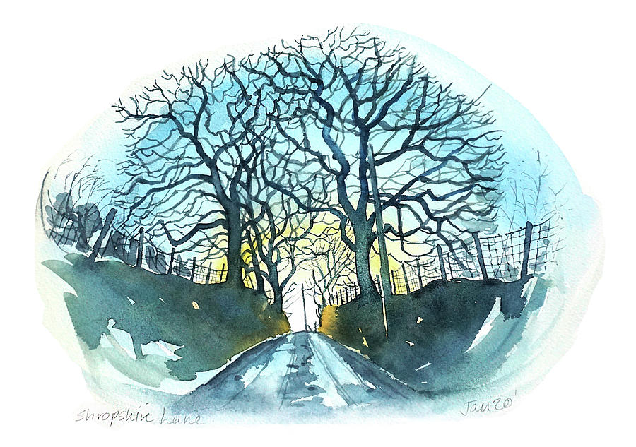 Shropshire Lane Painting