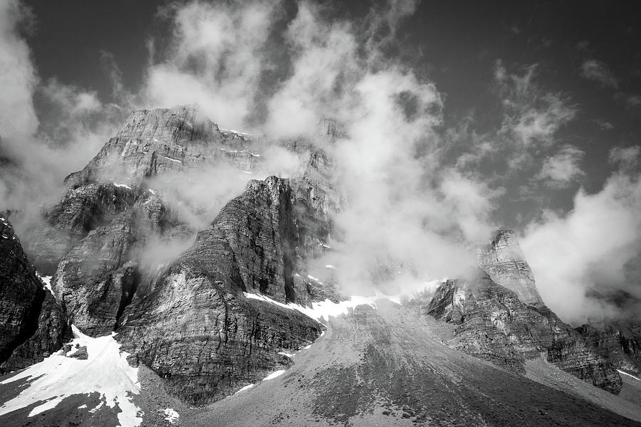 Storm Photograph - Shrouded Mountains by Jake Sublett