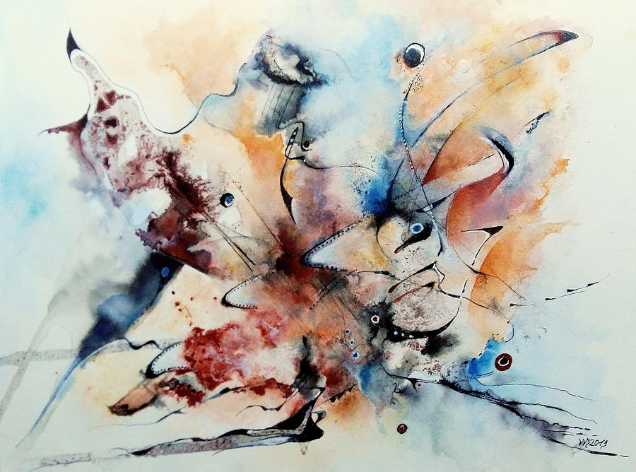 Abstract Painting Painting - Shushashana Tarasuli by Wolfgang Schweizer