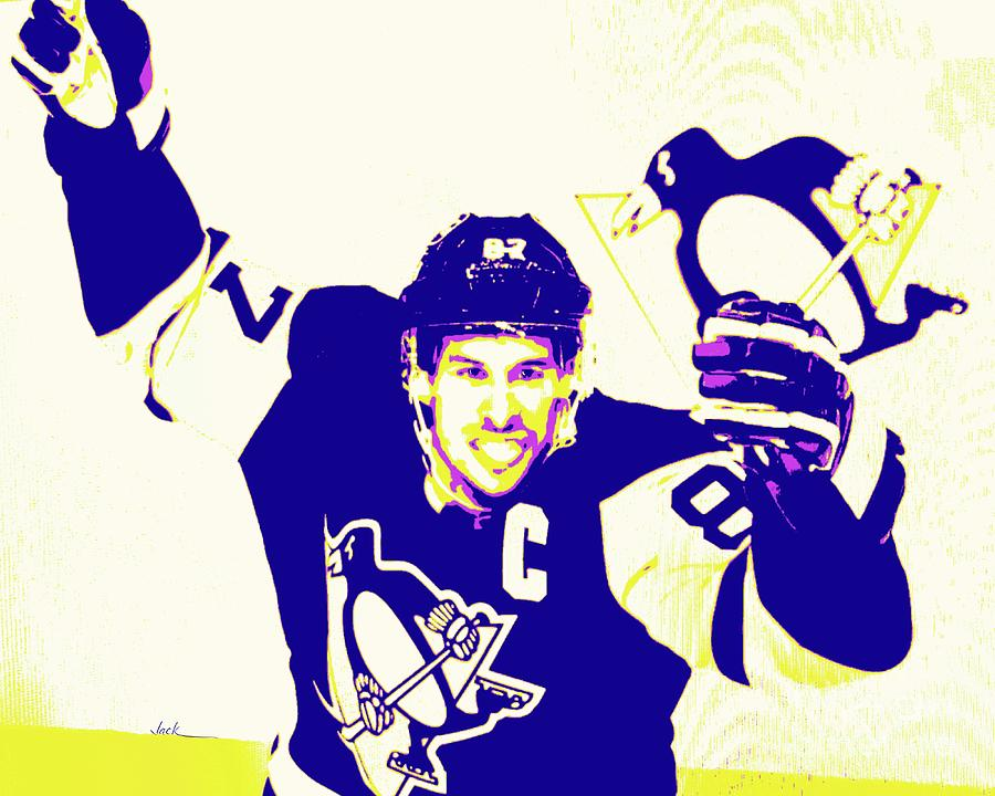 Crosby Painting - Sidney Crosby 2021 by Jack Bunds