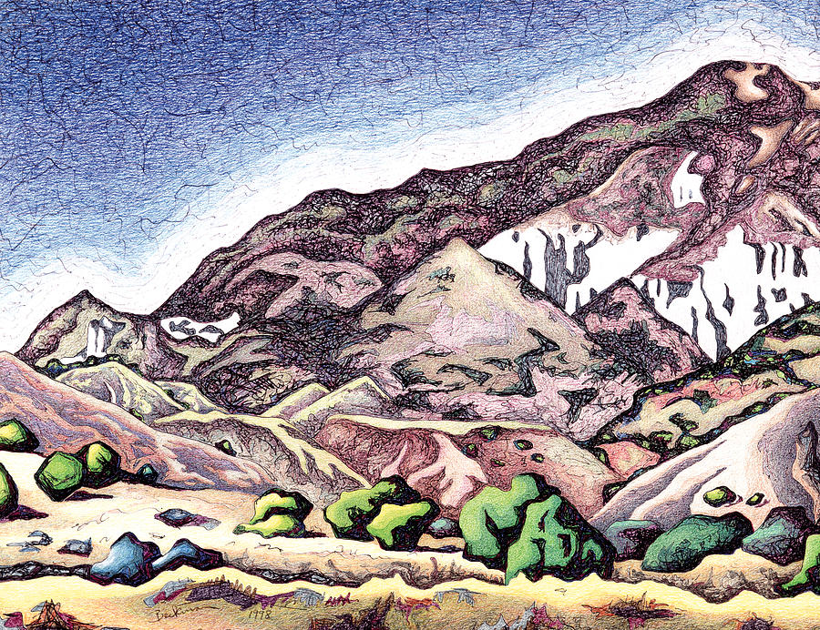 Dale Beckman Drawing - Sierra Negra by Dale Beckman