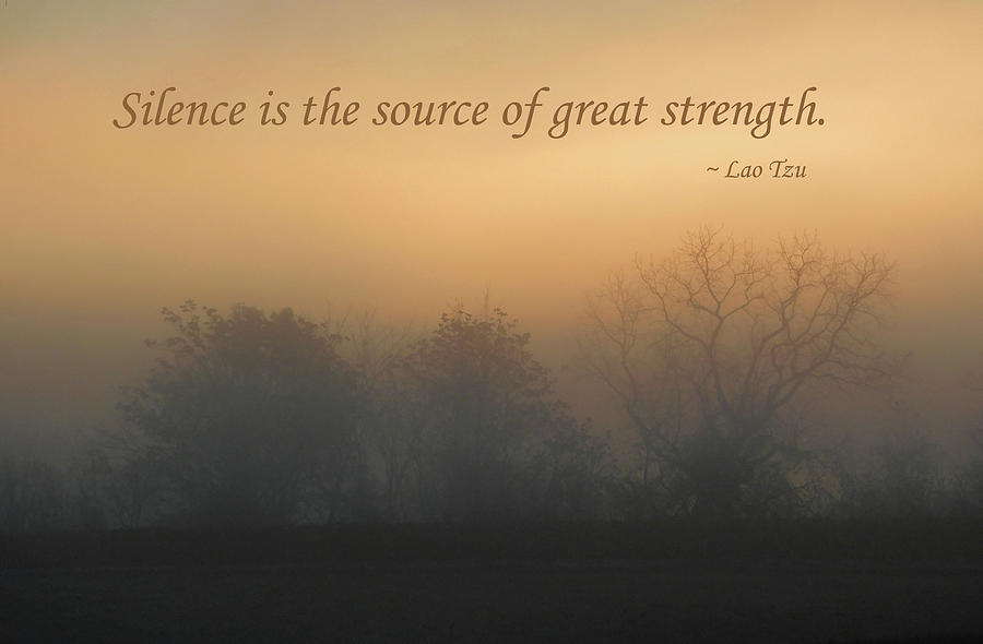 Silence Is The Source Of Great Strength Photograph